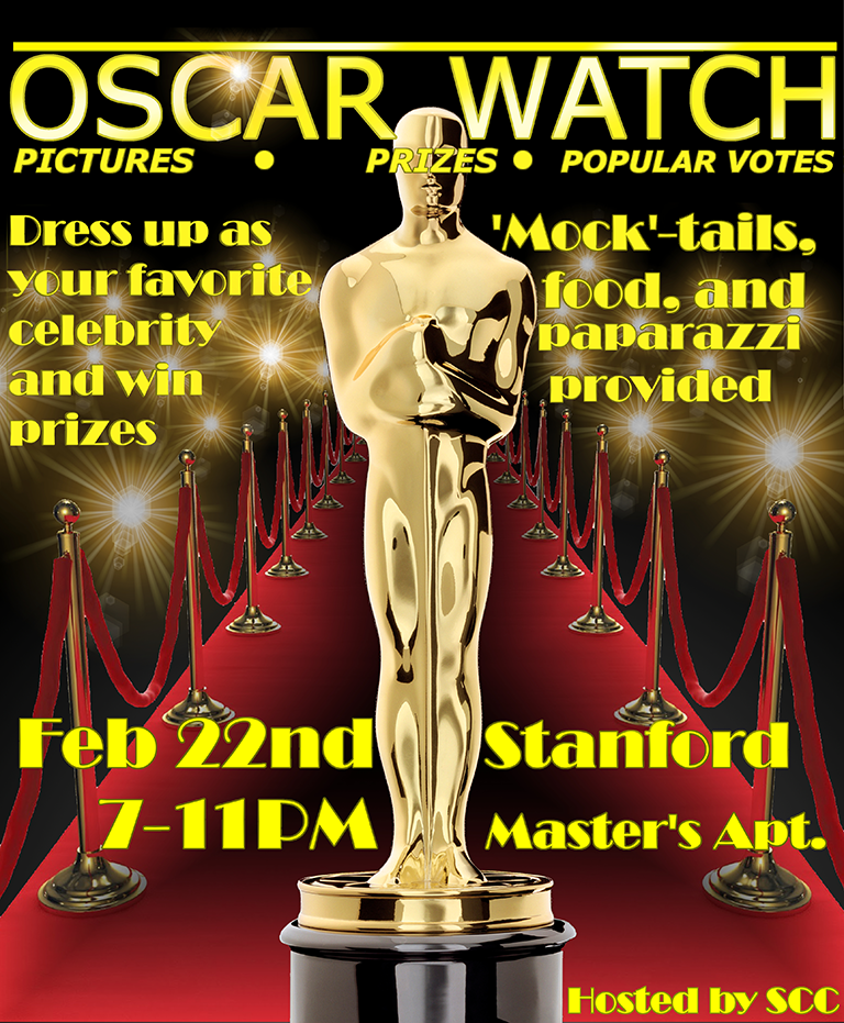Advertisement for the SCC Oscar Watch Party.